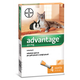 BAYER ADVANTAGE SPOT ON 40 GATTI FINO A KG.4
