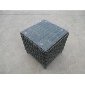 TAVOLINO C/VETRO CM 45X45X45H COD.WM1038