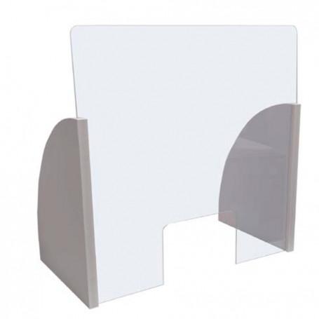 Barriera protettiva parafiato parasputo protezione plexiglas 3mm 90x66x30 cm BVA