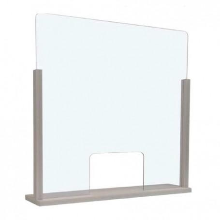 Barriera protettiva parafiato parasputo protezione plexiglas 3mm 90x66x13 cm DVA
