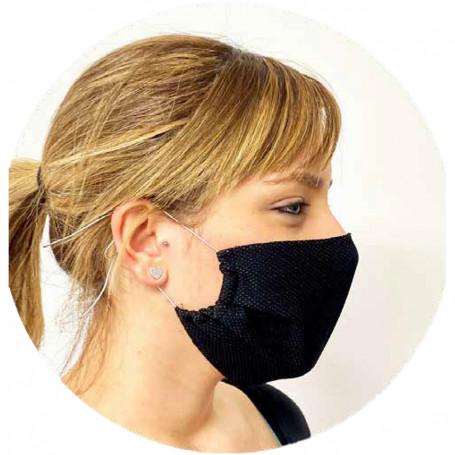 Mascherina protettiva + 20 filtri silver protection riutilizzabile con filtro sostituibile