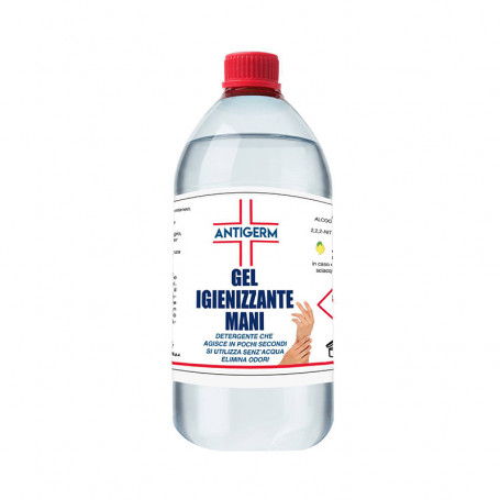 Gel igienizzante mani 1 litro a base alcolica 65% alcool