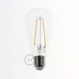 Lampadina-Trasparente-LED-Edison-ST64-Filamento-Lungo-4W-E27-Decorativa-Vintage-122522989603