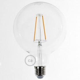 Lampadina-Trasparente-LED-Globo-G125-Filamento-Lungo-4W-E27-Decorativa-Vintage-2-122522992190