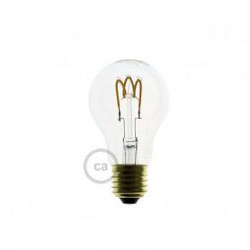 Lampadina-Trasparente-LED-Goccia-A60-Filamento-Curvo-a-Spirale-3W-E27-Dimmerabil-122523007089
