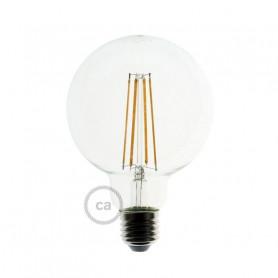 Lampadina-Trasparente-LED-Globo-G125-Filamento-Lungo-75W-E27-Decorativa-Vintage-122523033255
