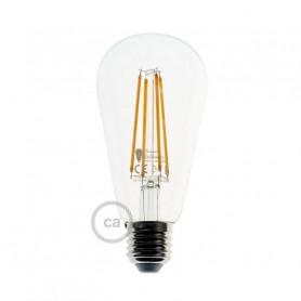Lampadina-Trasparente-LED-Edison-ST64-Filamento-Lungo-75W-E27-Decorativa-Vintag-122523036221