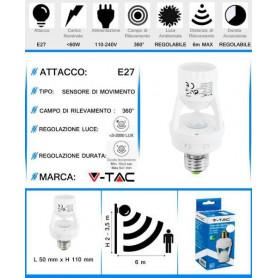 V-TAC VT-8005 PORTALAMPADA...