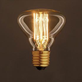 Lampadina-Vintage-Dorata-BR95-Filamento-di-Carbonio-a-Gabbia-30W-E27-Dimmerabile-122523073663