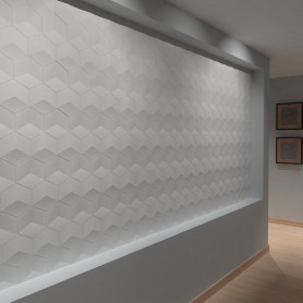 Pannello 3d in gesso DS8014 wall panel luceledcom iniz