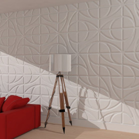 Pannello 3d in gesso DS8031 ART409 wall panel luceledcom iniz