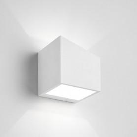 Applique da parete in gesso cubo Philius small T197 luceledcom