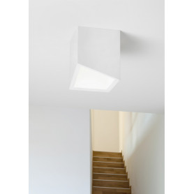 lampada da soffitto in gesso Cubo Philius PL T199 3