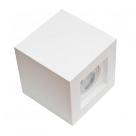 porta faretto in gesso plafone cubo F02 ceramico luceledcom 1