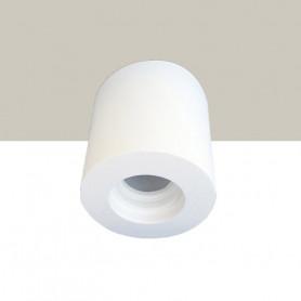 porta faretto in gesso plafone tubo F01 ceramico DS2009 luceledcom
