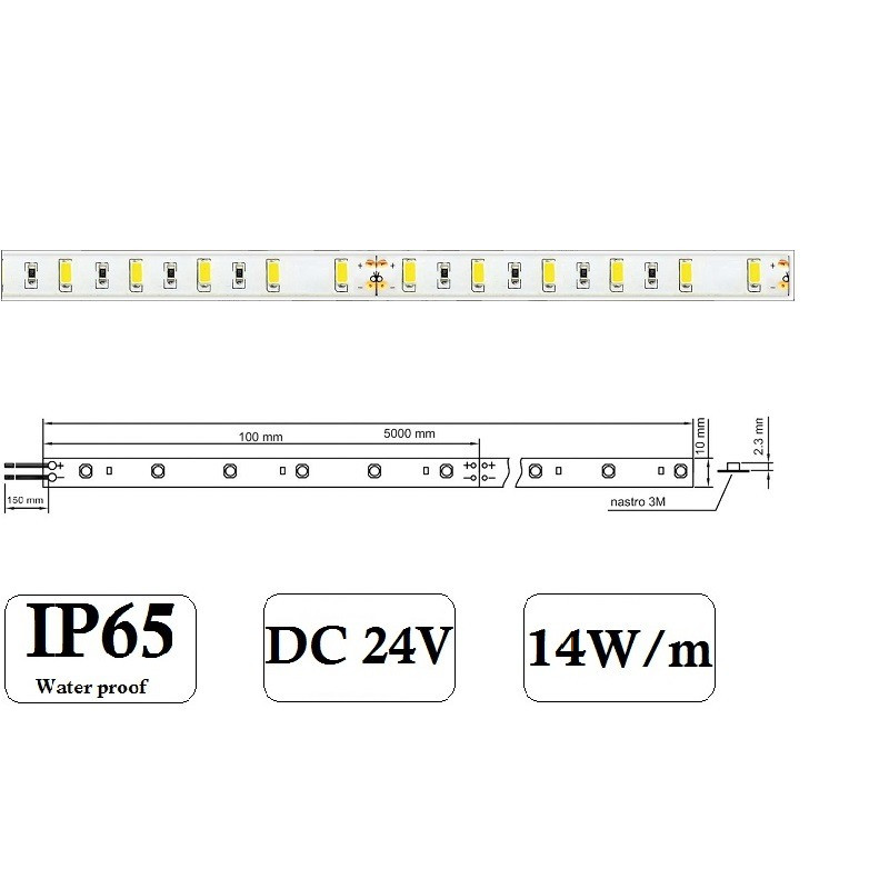 STRISCIA LED 5630 IP65 2
