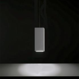 lampadario cubo in gesso 19 cm pendente GU10 ambiente luceledcom