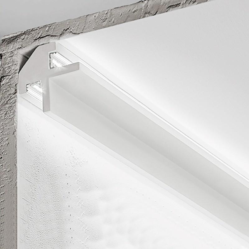 Cornice in gesso bi emissione per led luceledcom DS5017