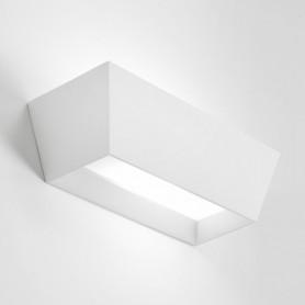 Applique da parete in gesso rettangolare Melos T211 luceledcom