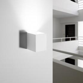 Applique da parete in gesso rettangolare Lissos T126 luceledcom