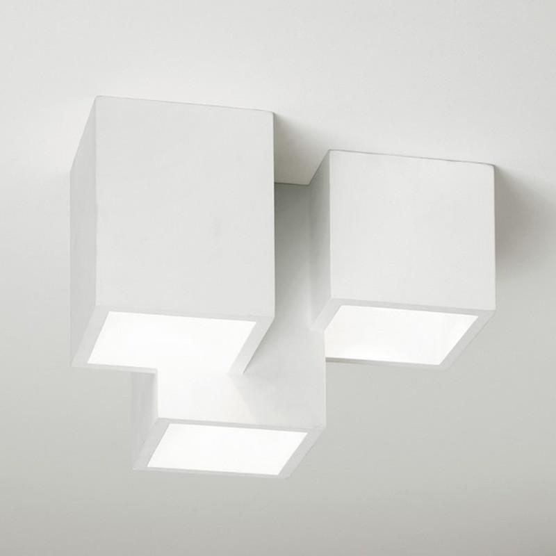 Plafoniera da soffitto in gesso Heraea T193 luceledcom 1