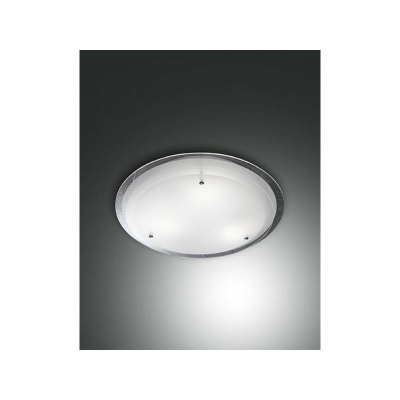 Lampadari Da Soffitto Economici.Lampada Da Soffitto Hill Plafoniera Metallo E Vetro Bianco 3 Misure