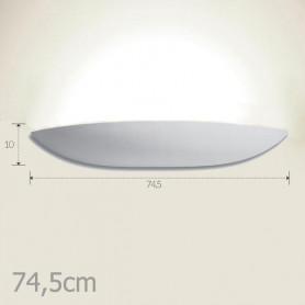 APPLIQUE-IN-GESSO-LAMPADA-DA-PARETE-MODERNO-745cm-2-ATTACCHI-E27-336-WALL-LIGHT-172512260043