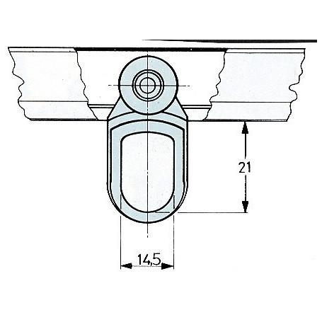 2 pz carrello nylon con 2 ruote Omge art 903 porta porte scorrevoli