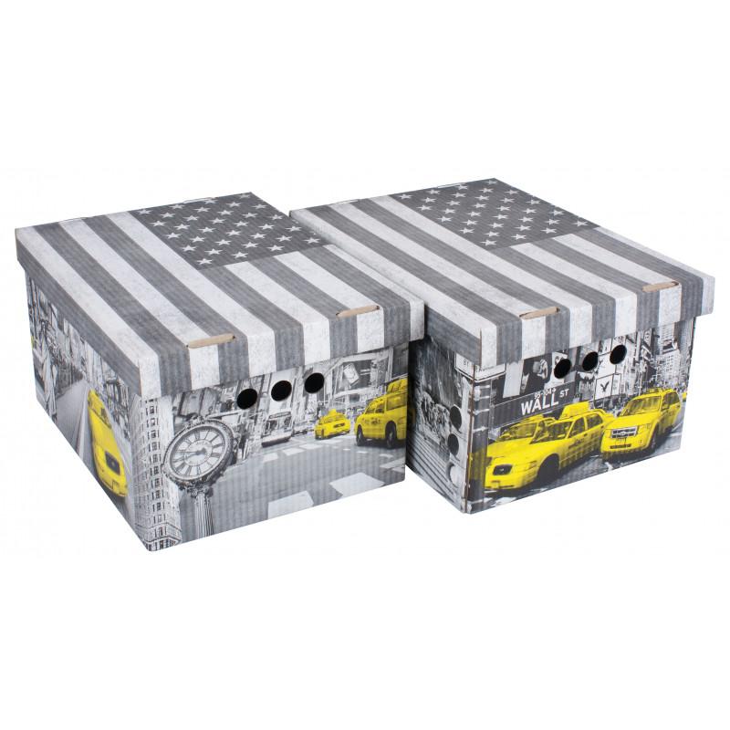 339213450d SCATOLA CARTONE CM 33X25X18H SET 2PZ COL.019 in offerta | Ceste mul...
