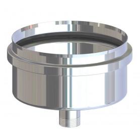 SCARICO COND.INOX AISI 304 X PELLET CM.8F