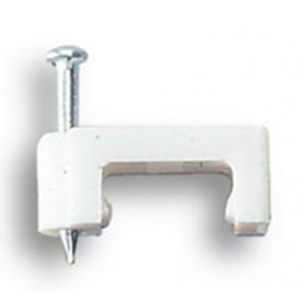 FISSACAVI PVC PIATTI C/CHIODO MM.8 CONF.25 PZ
