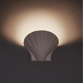 APPLIQUE-IN-GESSO-LAMPADA-PARETE-MODERNO-ATTACCO-E27-CONCHIGLIA-WALL-LIGHT-LV-172480319271