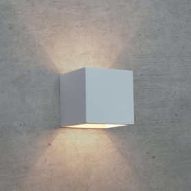 APPLIQUE-IN-GESSO-LAMPADA-A-PARETE-MODERNO-ATTACCO-G9-CUBO-UP-DOWN-WALL-LIGHT-172482864175