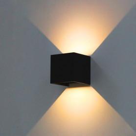 APPLIQUE-LED-CUBO-LAMPADA-DA-PARETE-10W-1200LM-LUCE-REGOLABILE-UP-DOWN-IP65-NERO-182418489428
