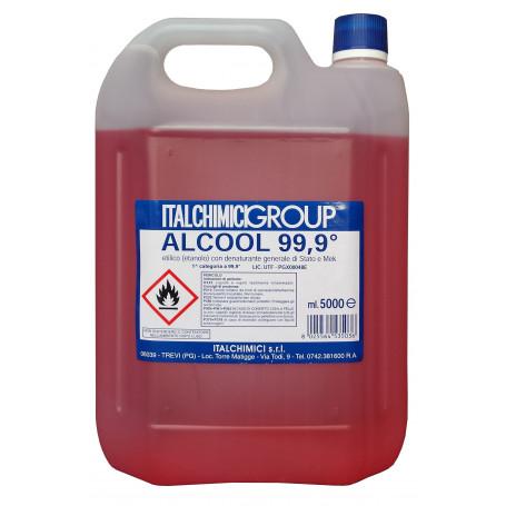ALCOOL DENATURATO 99,9° CERTIFICATO LT. 5
