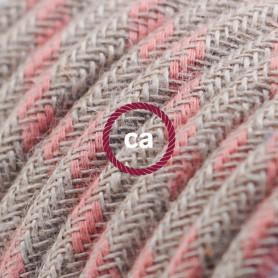 Cavo-Elettrico-rotondo-rivestito-in-Cotone-Stripes-color-Rosa-Antico-e-Lino-Natu-122521560911