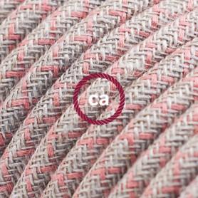 Cavo-Elettrico-rotondo-rivestito-in-Cotone-Losanga-color-Rosa-Antico-e-Lino-Natu-122521561035