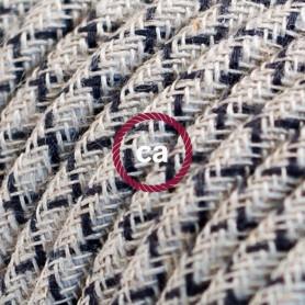 Cavo-Elettrico-rotondo-rivestito-in-Cotone-Losanga-color-Antracite-e-Lino-Natura-122521561495
