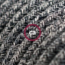 Cavo-Elettrico-rotondo-rivestito-in-Cotone-Onyx-Tweed-color-Nero-Lino-Naturale-122521561854