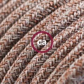 Cavo-Elettrico-rotondo-rivestito-in-Cotone-Tweed-Ruggine-color-Marrone-Lino-Nat-122521561934