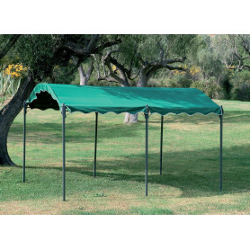 "GAZEBO IN METALLO MT.3X4 ""CARPORT"" VERDE"