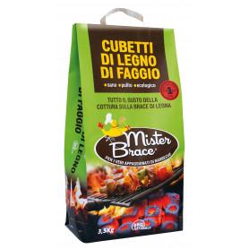 CUBETTI DI FAGGIO 'MISTER BRACE' KG.3,5