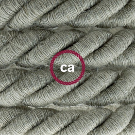 Cordone-XL-cavo-elettrico-3x075-Rivestimento-in-lino-naturale-Diametro-16mm-122521573618