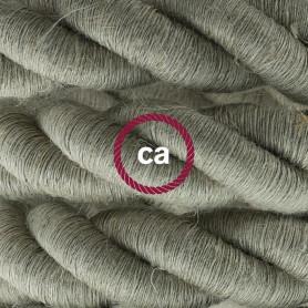 Cordone-2XL-cavo-elettrico-3x075-Rivestimento-in-lino-naturale-Diametro-24mm-122521573856