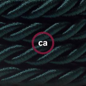 Cordone-XL-cavo-elettrico-3x075-Rivestimento-in-tessuto-verde-scuro-lucido-D-122521575774