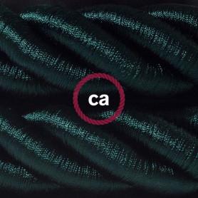 Cordone-3XL-cavo-elettrico-3x075-Rivestimento-in-tessuto-verde-scuro-lucido-122521576587