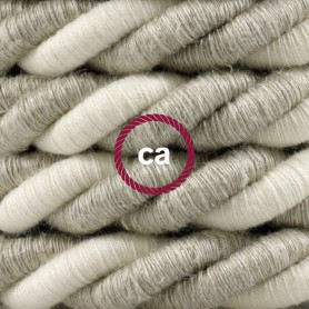 Cordone-XL-cavo-elettrico-3x075-Rivestimento-in-lino-naturale-e-cotone-grezzo-122521577515