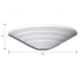 APPLIQUE-IN-GESSO-VERNICIABILE-LAMPADA-DA-PARETE-CON-PORTALAMPADA-E27-ART-A1094-182488050302
