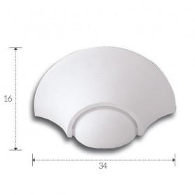 APPLIQUE-IN-GESSO-VERNICIABILE-LAMPADA-DA-PARETE-CON-PORTALAMPADA-E27-ART-A1097-182488098044