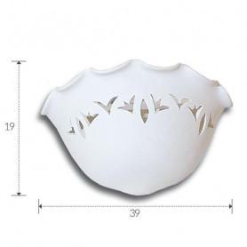 APPLIQUE-IN-GESSO-VERNICIABILE-LAMPADA-DA-PARETE-CON-PORTALAMPADA-E27-ART-A1099-182488098509